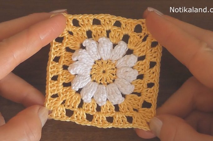 Crochet Flower Square Featured Image - This crochet flower square is an iconic and popular motifs in crochet. It is one in which you can use as many unique styles, colors and stitches as you can.