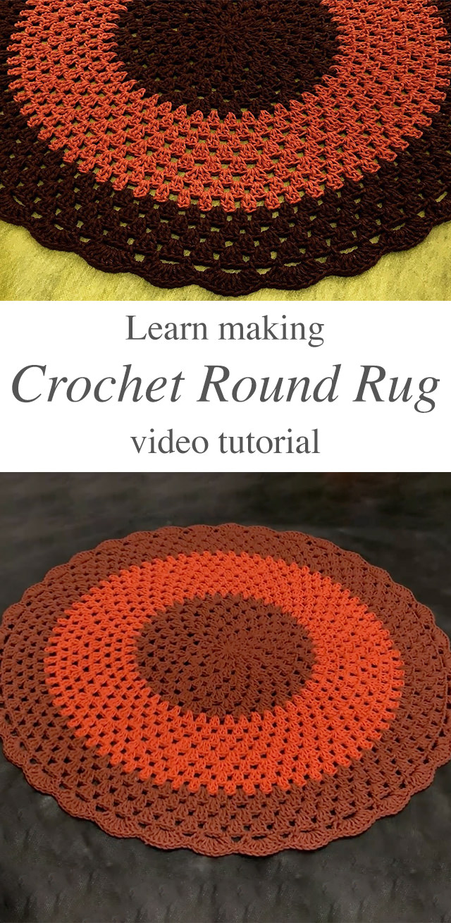 Crochet Round Rug For Your Home Decor