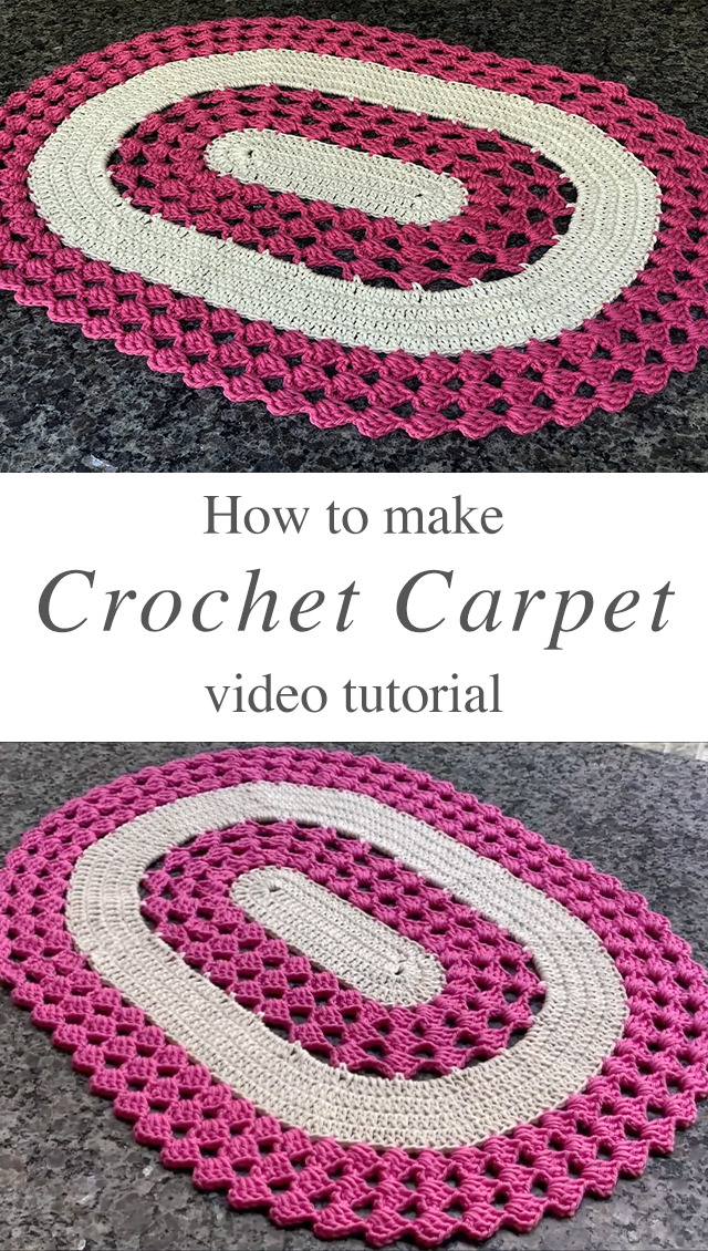 How To Crochet A Rug In Oval Shape