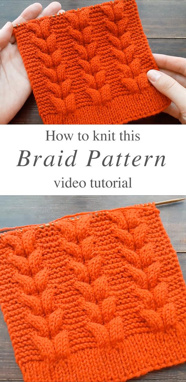 Knitting Braid Pattern You Can Learn Easily | CrochetBeja