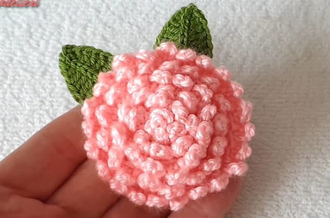 Tunisian Crochet Flower Featured Image - The gorgeous Tunisian crochet flower is the most creative flower I have encountered. This video tutorial in English subtitles will show you how to make this flower.